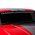 Bama Performance Windshield Banner - Frosted (79-93 All) - American Muscle Graphics 26174