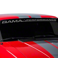 Bama Performance Windshield Banner - Frosted (79-93 All) - AmericanMuscle Graphics 26174