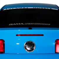 Bama Performance Lower Windshield Decal - Frosted (05-14 All) - AmericanMuscle Graphics 26188