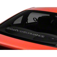 Bama Performance Lower Windshield Decal - Frosted (94-04 All) - AmericanMuscle Graphics 26188