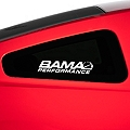 Bama Performance Quarter Window Decal - White (05-14 All) - AmericanMuscle Graphics 26189