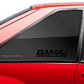Bama Performance Quarter Window Decal - Black (79-93 All) - American Muscle Graphics 26190