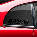 Bama Performance Quarter Window Decal - Black (94-04 All) - AmericanMuscle Graphics 26190