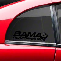 Bama Performance Quarter Window Decal - Black (94-04 All) - American Muscle Graphics 26190