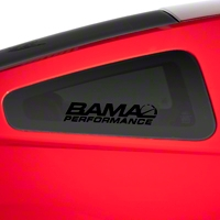 Bama Performance Quarter Window Decal - Black (79-14 All) - American Muscle Graphics 26190