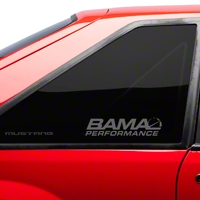Bama Performance Quarter Window Decal - Frosted (79-93 All) - AmericanMuscle Graphics 26191