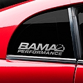 Bama Performance Quarter Window Decal - Frosted (94-04 All) - American Muscle Graphics 26191
