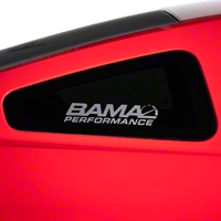 Bama Performance Quarter Window Decal - Frosted (79-14 All) - American Muscle Graphics 26191