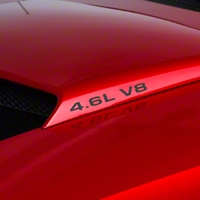 4.6L V8 Hood Scoop Decals - Matte Black (94-04) - AmericanMuscle Graphics 26197