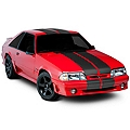 Matte Black Lemans Stripes - 12in (79-93 All) - AmericanMuscle Graphics 26202