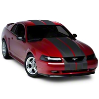 Matte Black Lemans Stripes - 12 in. (94-04 All) - American Muscle Graphics 26202