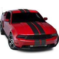 Matte Black Lemans Stripes - 8in (05-14 All) - AmericanMuscle Graphics 26203
