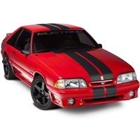 Matte Black Lemans Stripes - 8in (79-93 All) - American Muscle Graphics 26203