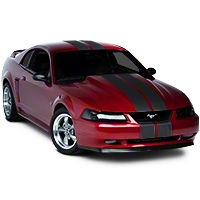 Matte Black Lemans Stripes - 8in (94-04 All) - AmericanMuscle Graphics 26203