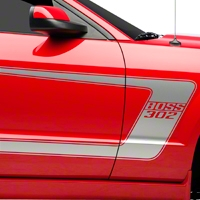 Silver Boss C-Style Side Stripe w/Lettering (05-14 All) - AmericanMuscle Graphics 26204