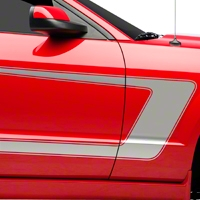 Silver Boss C-Style Side Stripe (05-14 All) - AmericanMuscle Graphics 26205