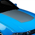 Silver Boss Style Hood Decal (10-12 GT, V6) - AmericanMuscle Graphics 26206