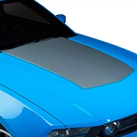 Silver Boss Style Hood Decal (10-12 GT, V6) - American Muscle Graphics 26206