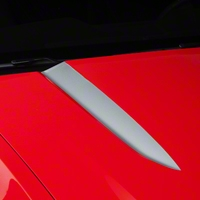 Silver Hood Accent Decal (10-12 GT, V6) - AmericanMuscle Graphics 26207