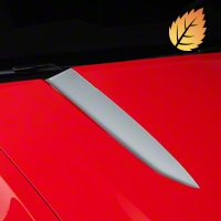 Silver Hood Accent Decal (10-12 GT, V6) - American Muscle Graphics 26207