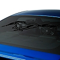 Running Pony Window Decal - Black (05-14 All)