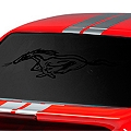 Running Pony Window Decal - Black (79-93 All)