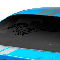 Running Pony Window Decal - Black (94-04 All)