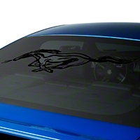 Running Pony Window Decal - Black (79-14 All) - AmericanMuscle Graphics 26208
