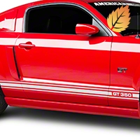 White Rocker Stripes w/ GT350 (05-14 All) - American Muscle Graphics 26211