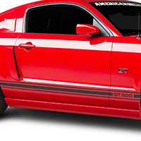 Matte Black Rocker Stripes w/ GT500 (05-14 All)