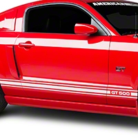 White Rocker Stripes w/ GT500 (05-14 All)