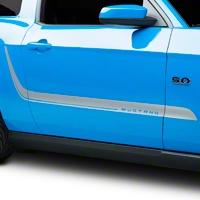 Silver Sport Stripe Kit (10-14 All) - AmericanMuscle Graphics 26219