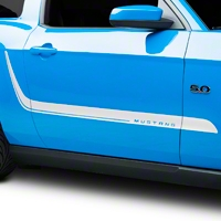 White Sport Stripe Kit (10-14 All) - AmericanMuscle Graphics 26220