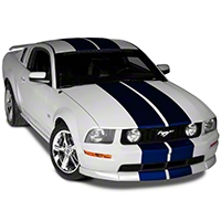 Blue Lemans Stripes - 12in (05-14 All) - American Muscle Graphics 26234