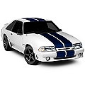 Blue Lemans Stripes - 12 in. (79-93 All) - American Muscle Graphics 26234