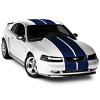 Blue Lemans Stripes - 12 in. (94-04 All) - American Muscle Graphics 26234