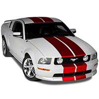Red Lemans Stripes - 12 in. (05-14 All) - American Muscle Graphics 26235