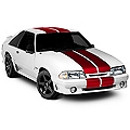 Red Lemans Stripes - 12in (79-93 All) - AmericanMuscle Graphics 26235