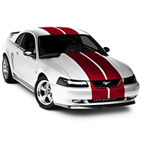 Red Lemans Stripes - 12in (94-04 All) - AmericanMuscle Graphics 26235