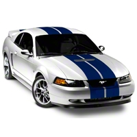 Blue GT500 Style Stripes - 10 in. (94-04 All) - American Muscle Graphics 26236