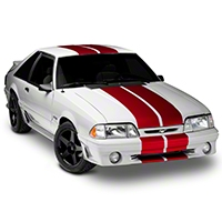 Red GT500 Style Stripes - 10 in. (79-93 All) - American Muscle Graphics 26237