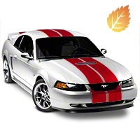 Red GT500 Style Stripes - 10in (94-04 All) - American Muscle Graphics 26237