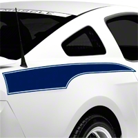 Blue Rear Side Stripe Decal (10-14 All) - AmericanMuscle Graphics 26241