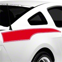 Red Rear Side Stripe Decal (10-14 All) - AmericanMuscle Graphics 26243