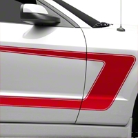 Red Boss C-Style Side Stripe (05-14 All) - AmericanMuscle Graphics 26251