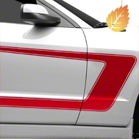 Red Boss C-Style Side Stripe (05-14 All) - American Muscle Graphics 26251