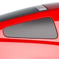 Matte Black Quarter Window Blackout (10-14 All) - American Muscle Graphics 26259