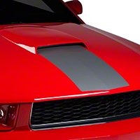 Silver Hood Stripe (05-09) - AmericanMuscle Graphics 26264