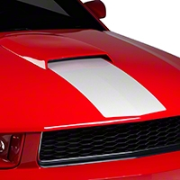 White Hood Stripe (05-09) - American Muscle Graphics 26265