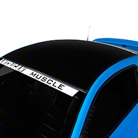 Black Boss Style Roof Decal (05-14 All) - AmericanMuscle Graphics 26266